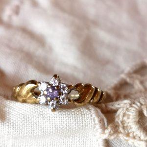 טבעת צמת אמטיסט
