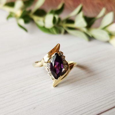 טבעת עין האמטיסט