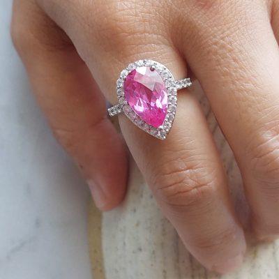 טבעת טיפת הרובי